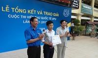 Trao giải cuộc thi viết thư quốc tế UPU 41 tại Việt Nam
