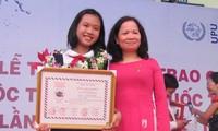Trao giải cuộc thi viết thư quốc tế UPU lần thứ 42