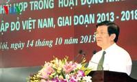 Chủ tịch nước Trương Tấn Sang dự lễ ký kết phối hợp công tác nhân đạo