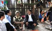 Chủ tịch nước Trương Tấn Sang thăm dân tái định cư Công trình thủy điện sông Tranh 2