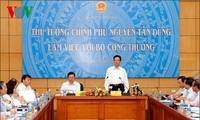 Thủ tướng Nguyễn Tấn Dũng làm việc với Bộ Công thương