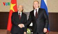 Tổng Bí thư Nguyễn Phú Trọng hội đàm với Tổng thống Nga Putin, hội kiến Thủ tướng Nga Medvedev