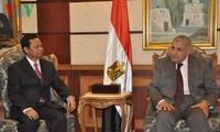 Tổng thanh tra Huỳnh Phong Tranh tiếp kiến Thủ tướng Ai Cập