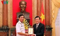 Chủ tịch nước gặp mặt các cá nhân,  tập thể tiêu biểu của quân chủng Hải quân