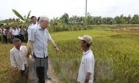 Tổng Bí thư Nguyễn Phú Trọng làm việc tại tỉnh Bến Tre