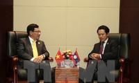 Hoạt động của Phó Thủ tướng, Bộ trưởng Ngoại giao Phạm Bình Minh tại Lào