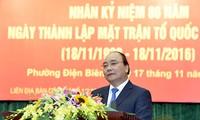 Thủ tướng Nguyễn Xuân Phúc dự Ngày hội Đại đoàn kết toàn dân tại phường Điện Biên, Hà Nội