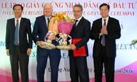 Quảng Ninh: Trao giấy chứng nhận đầu tư dự án Khu công nghiệp - cảng biển 7.000 tỷ đồng
