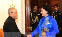 Chủ tịch Quốc hội Nguyễn Thị Kim Ngân hội kiến Tổng thống Ấn Độ Pranab Mukherjee