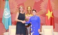 Chủ tịch Quốc hội Nguyễn Thị Kim Ngân tiếp Hoàng hậu Vương quốc Hà Lan