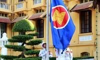 Lễ thượng cờ  nhân kỷ niệm 50 năm ASEAN