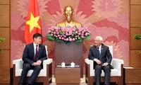 Phó Chủ tịch Quốc hội Uông Chu Lưu tiếp Tổng Thư ký Quốc hội Mông Cổ
