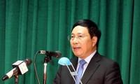 Phó Thủ tướng Phạm Bình Minh tiếp Chủ tịch Ủy ban Đối ngoại Thượng viện Liên bang Mexico