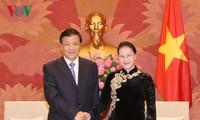 Chủ tịch Quốc hội Nguyễn Thị Kim Ngân tiếp Ủy viên Thường vụ Bộ Chính trị Trung Quốc Lưu Vân Sơn