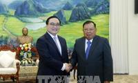 Lãnh đạo Đảng, Nhà nước Lào tiếp Đoàn đại biểu cấp cao thành phố Hà Nội