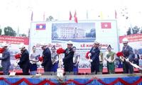 Khởi công xây dựng trường Phổ thông Sithanaxay - quà tặng của Tổng Bí thư Nguyễn Phú Trọng