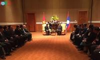 Tổng Bí thư, Chủ tịch nước Lào Bounnhang Vorachith gặp đại diện Hội hữu nghị Việt- Lào