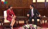 Chủ tịch nước Trương Tấn Sang tiếp các đại sứ Italia, Mexico và Hungary trình quốc thư