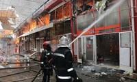 Cháy chợ Barabashovo có đông người Việt kinh doanh ở Kharkov, Ukraine