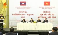 Hội nghị hợp tác đầu tư Việt Nam-Lào lần thứ 2 năm 2016