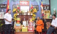 Ban Chỉ đạo Tây Nam bộ chúc Tết Chôl Chnăm Thmây đồng bào Khmer Trà Vinh
