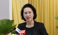 Chủ tịch Quốc hội tiếp xúc cử tri tại quận Ninh Kiều, Thành phố Cần Thơ