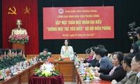 """Trưởng Ban dân vận TW Trương Thị Mai tiếp đoàn đại biểu """"Gương mặt trẻ tiêu biểu"""" Bộ đội biên phòng"""