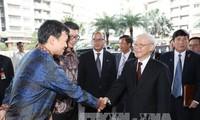 Tổng Bí thư Nguyễn Phú Trọng kết thúc chuyến thăm Indonesia, lên đường thăm Myanmar