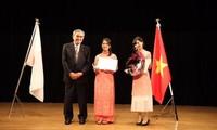 Sinh viên Nhật Bản thi hùng biện tiếng Việt