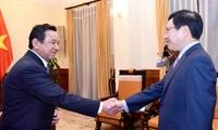 Phó Thủ tướng, Bộ trưởng Phạm Bình Minh tiếp Đại sứ Mông Cổ