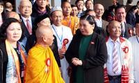 Phó Chủ tịch Quốc hội Tòng Thị Phóng gặp Đoàn đại biểu người có uy tín, nhân sĩ trí thức, doanh nhân