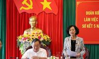 Trưởng ban Dân vận Trung ương Trương Thị Mai làm việc tại tỉnh Đắk Nông
