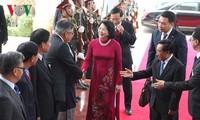 Phó Chủ tịch nước Đặng Thị Ngọc Thịnh tiếp Chủ tịch Hội hữu nghị Lào - Việt Nam
