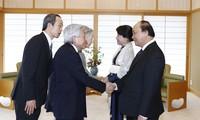Премьер Вьетнама Нгуен Суан Фук встретился с императором и императрицей Японии