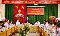 Нгуен Тхи Ким Нган провела рабочую встречу с руководителями уезда Кондао
