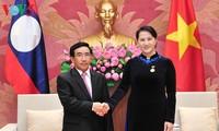Нгуен Тхи Ким Нган приняла вице-президента Лаоса