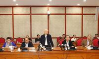 Генсек ЦК КПВ Нгуен Фу Чонг провёл рабочую встречу с парткомом г.Хошимина
