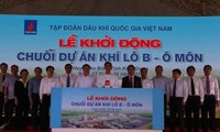 Prime Minister Nguyen Tan Dung launches the gas pipeline project for Block B – O Mon