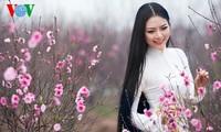 มิสส์ชนเผ่าประจำปี๒๐๑๓ประชันความสวยกับดอกท้อในสวน