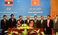 พิธีลงนามข้อตกลงการค้าในเขตชายแดนระหว่างเวียดนามกับลาว