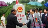 เสร็จสิ้นการปักหลักพรมแดนทางบกในเขตชายแดนระหว่างเวียดนามกับลาว