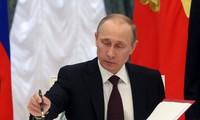 ประธานาธิบดีรัสเซียลงนามประกาศใช้รัฐบัญญัติระงับข้อตกลงเอฟทีเอกับยูเครน