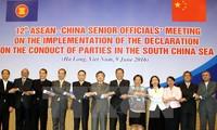 ปัญหาทะเลตะวันออกได้รับการหารือในการประชุมเจ้าหน้าที่อาวุโสระหว่างอาเซียนกับจีน