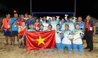 คณะนักกีฬาเวียดนามอยู่อันดับ๑ในการแข่งขันเอเชียนบีชเกมส์ครั้งที่๕