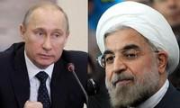 ประธานาธิบดีอิหร่านและรัสเซียหารือเกี่ยวกับการต่อต้านการก่อการร้าย