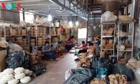 อาชีพจักสานของหมู่บ้านฟู้วิง