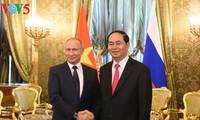 ประธานประเทศเวียดนามเจรจากับประธานาธิบดีรัสเซีย