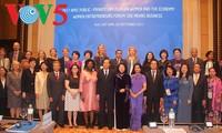 ปิดการประชุมเกี่ยวกับการสนทนาระหว่างภาครัฐกับภาคเอกชนเกี่ยวกับสตรีและเศรษฐกิจ