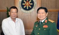 การขยายความร่วมมือด้านกลาโหมมีส่วนร่วมผลักดันความสัมพันธ์หุ้นส่วนยุทธศาสตร์เวียดนาม-ฟิลิปปินส์