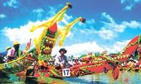 เทศกาลแข่งเรือ  Ngo ของชนเผ่าเขมรในจังหวัด Soc Trang